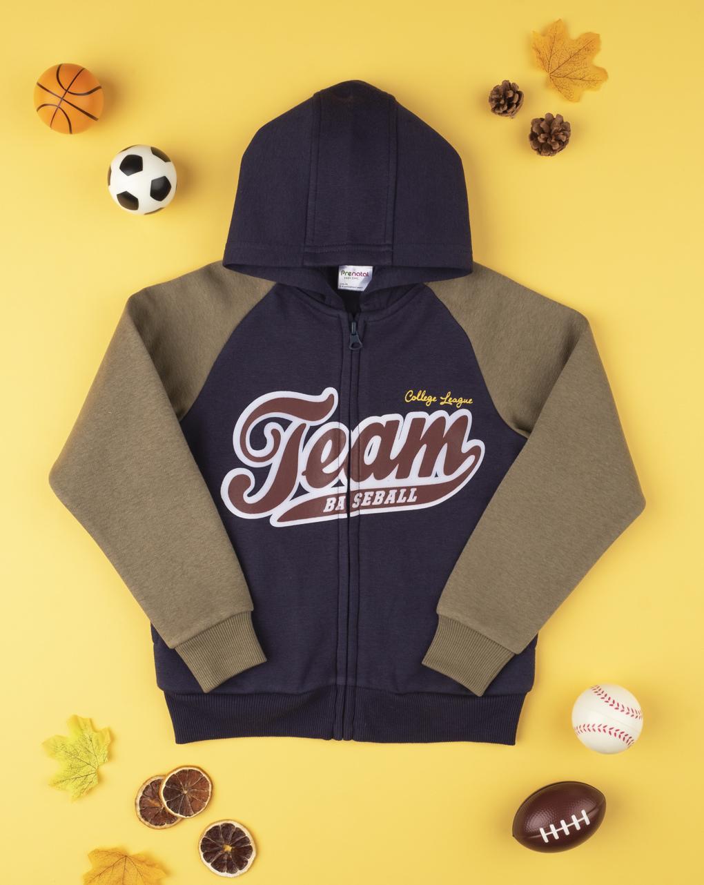 """Menino felpa """"team baseball"""" - Prénatal"""