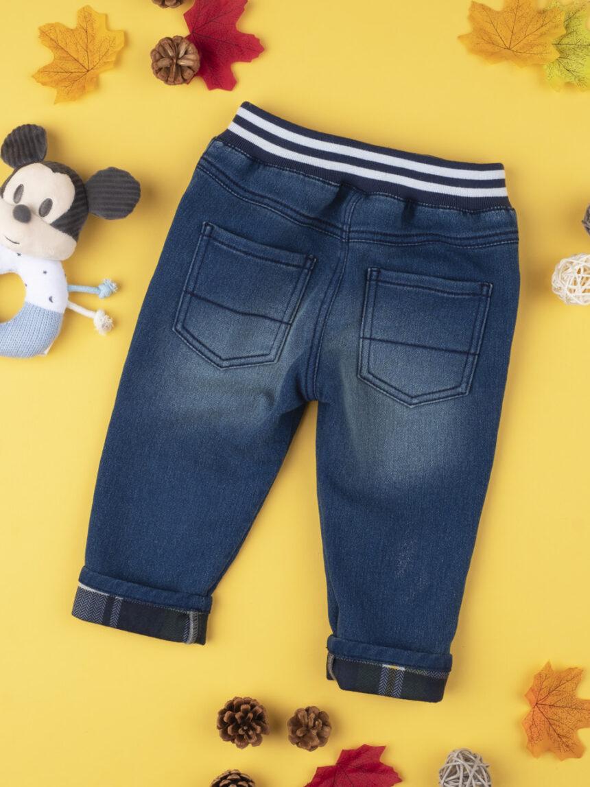 """Calça jeans infantil """"mickey mouse"""" - Prénatal"""