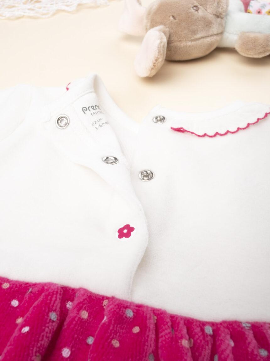 Vestido de menina em dois tons com meia-calça - Prénatal