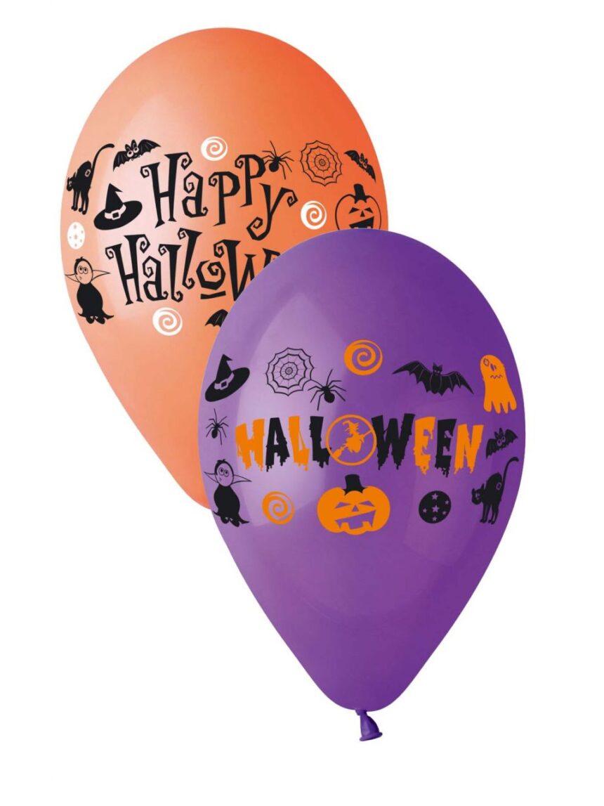 Pacote de 20 balões com impressão halloween cores assortadas - Ciao