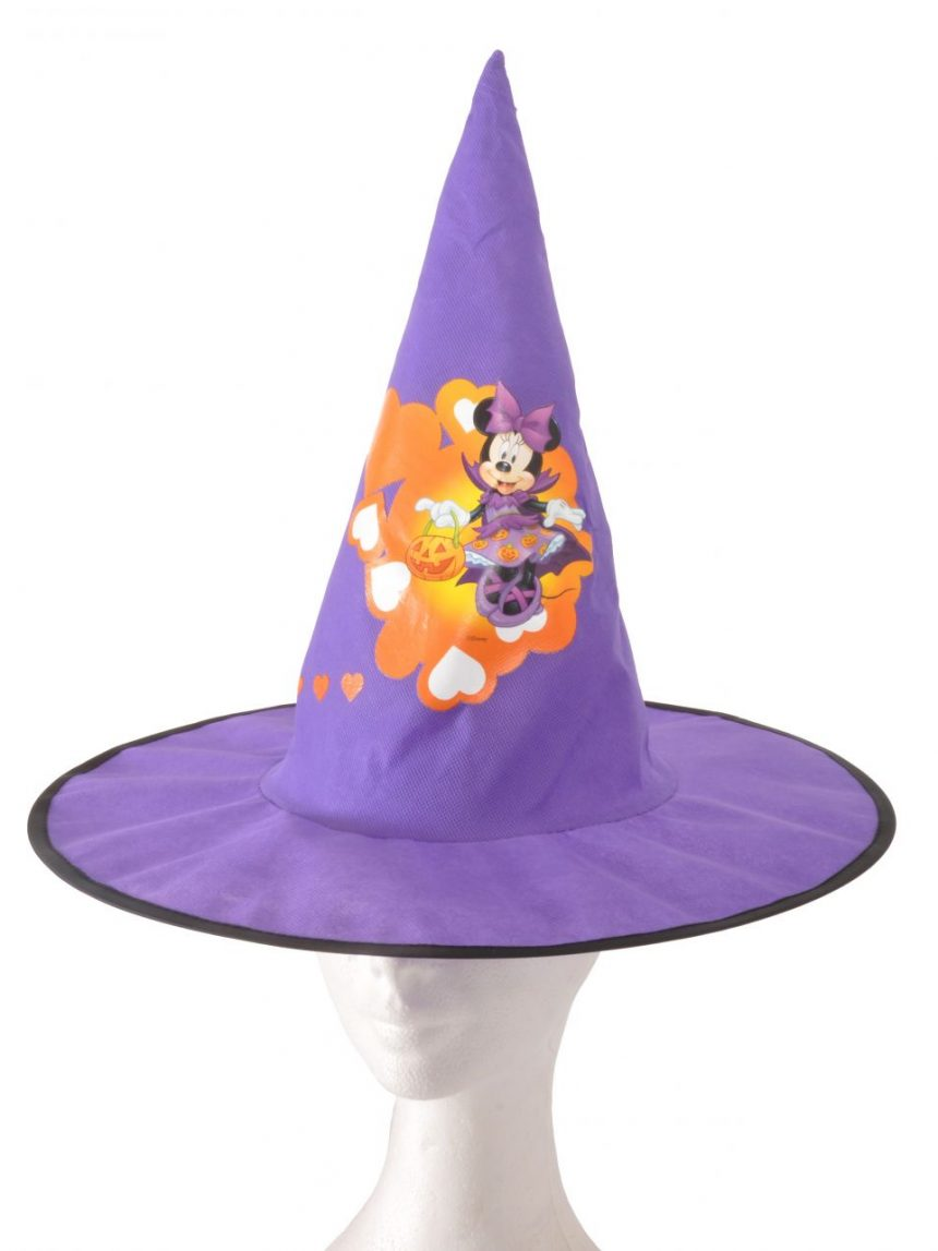 Hat cone tecido básico halloween mickey / minnie - Ciao